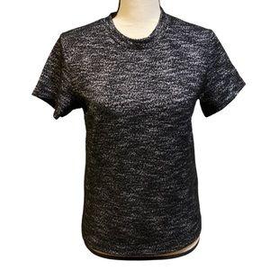 Free People Dark Gray Sweater Knit T-Shirt